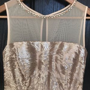 Simply Beautiful Blush Vince Camuto Sequin Dress